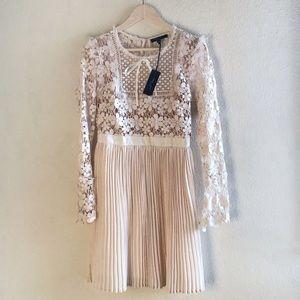 Romeo & Juliet Couture | Crochet Knit Cream Dress